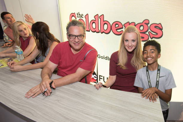 Abcs the goldbergs season five photos and images getty images the goldbergs abc brings the star power to comic con international 2018 with talent m4hsunfo
