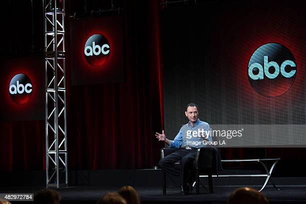 Executive Session Paul Lee addresses the press at Disney | ABC Television Group's Summer Press Tour 2015 at The Beverly Hilton in Beverly Hills...