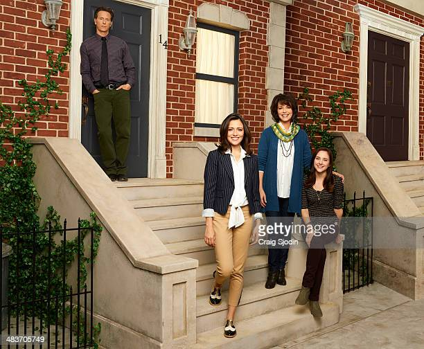 LIFE Walt Disney Television via Getty Images Family's Chasing Life stars Steven Weber as George Italia Ricci as April Mary Page Keller as Sara and...