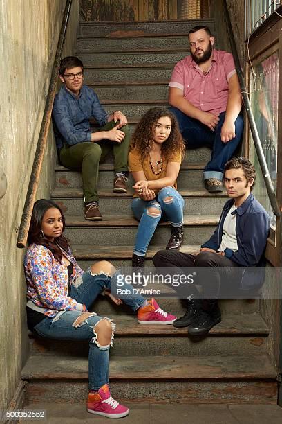ROAD Walt Disney Television via Getty Images Family's Recovery Road stars Kyla Pratt as Trish David Witts as Craig Jessica Sula as Maddie Daniel...