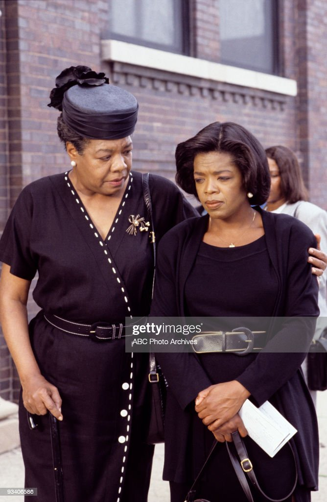 TV - 'There Are No Chlldren Here' - 11/28/93, With no help from a working father, LaJoe Rivers (played by Oprah Winfrey, right), a mother of five children, is left alone to deal with the hardships and struggles of life in a bad neighborhood in Chicago. Maya Angelou also stars as Lelia Mae.,