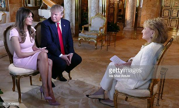 ABC NEWS 11/17/15 Barbara Walters talks to businessman and Republican Presidential candidate Donald Trump and his wife Melania at their home in New...