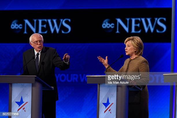 News coverage of the Democratic Presidential debate from St Anselm College in Manchester NH airing Saturday Dec 19 2015 on the ABC Television Network...