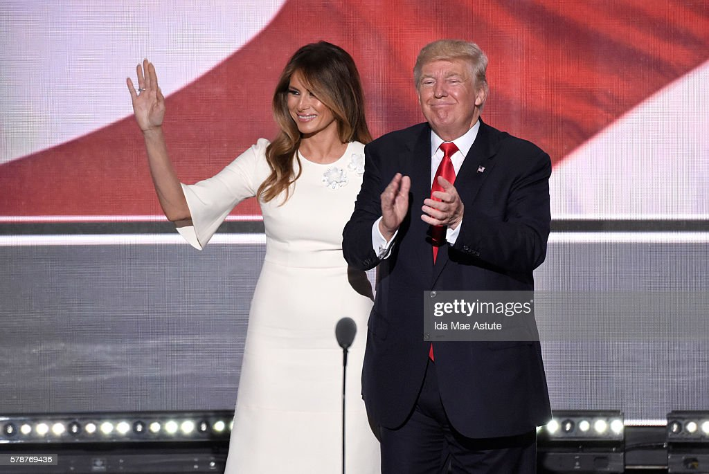 MELANIA TRUMP, DONALD TRUMP : News Photo