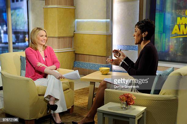 AMERICA Walt Disney Television via Getty Images News' Andrea Canning talks with Robin Roberts on GOOD MORNING AMERICA 31210 on the Walt Disney...