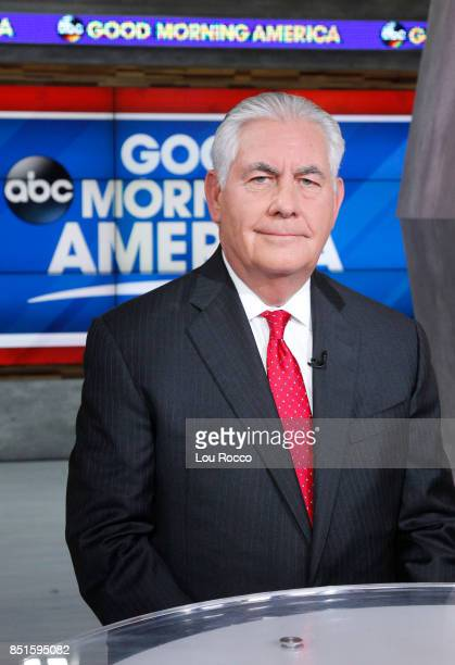 News' David Muir interviews Secretary of State Rex Tillerson on 'Good Morning America' on Friday September 22 airing on the ABC Television Network REX