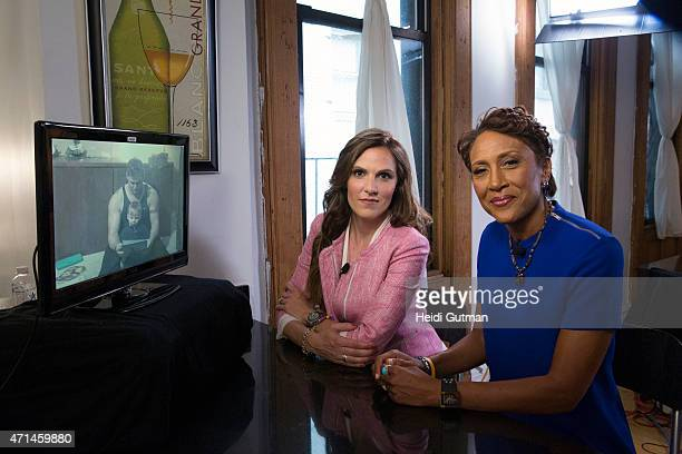 Walt Disney Television via Getty Images NEWS EXCLUSIVE Robin Roberts talks to Taya Kyle widow of decorated US Navy Seal American Sniper Chris Kyle...