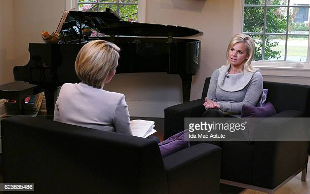 Walt Disney Television via Getty Images NEWS Former Fox News anchor Gretchen Carlson sits down for an exclusive interview with Amy Robach at her...