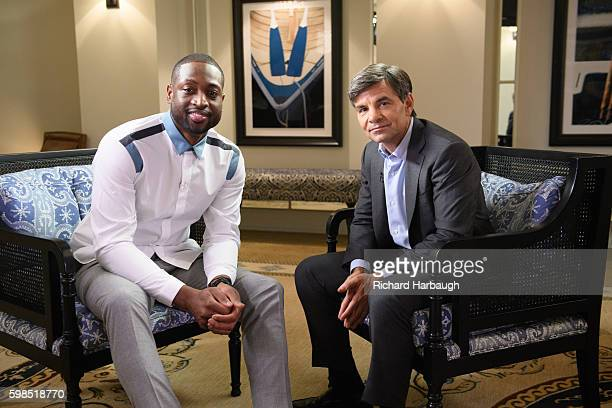 Walt Disney Television via Getty Images NEWS George Stephanopoulos interviews Dwyane Wade of the Chicago Bulls about the murder of his cousin Nykea...