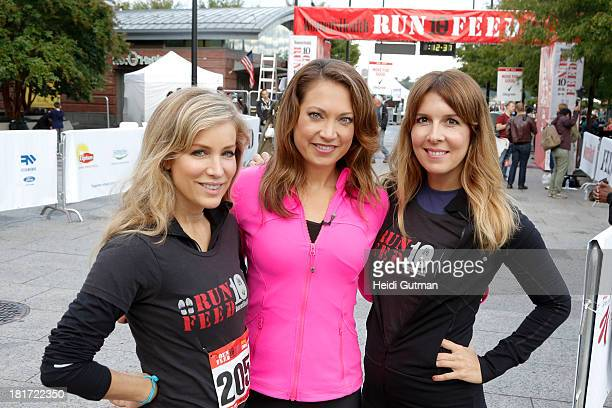 EDITION Walt Disney Television via Getty Images News' Ginger Zee broadcasts from Pier 84 at the Hudson River in New York City 9/22/13 from the...