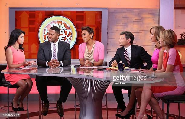 AMERICA Walt Disney Television via Getty Images News Goes Pink for Breast Cancer Awareness month on Good Morning America 10/1/15 airing on the Walt...