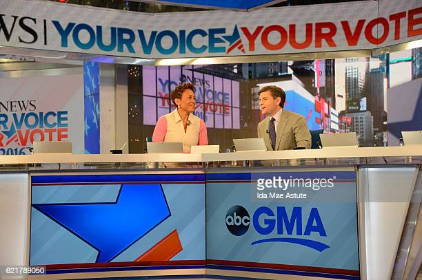 Walt Disney Television via Getty Images NEWS GOOD MORNING AMERICA broadcasts special coverage of the 2016 Presidential Election from Walt Disney...
