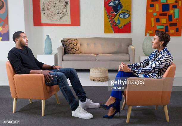 Walt Disney Television via Getty Images NEWS In an exclusive interview Robin Roberts talks with Sterling Brown after video of police tasing the...