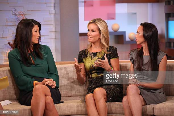 AMERICA Walt Disney Television via Getty Images News' Juju Chang Dr Jennifer Ashton and Tammy Gold appear on Good Morning America 9/28/12 airing on...