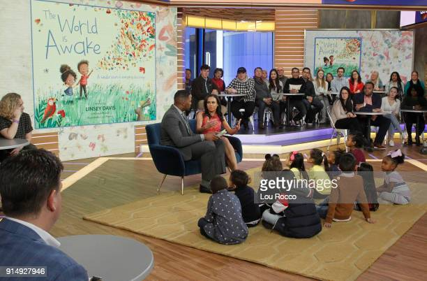 AMERICA Walt Disney Television via Getty Images News' Linsey Davis shares her new children's book The World is Awake on Good Morning America Tuesday...