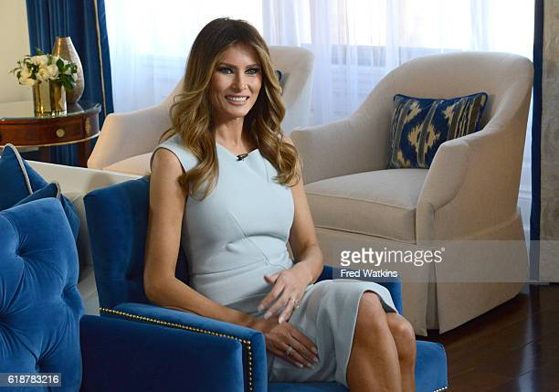 Walt Disney Television via Getty Images NEWS Melania Trump is pictured at the opening of the Trump International Hotel in Washington DC 10/26/16...