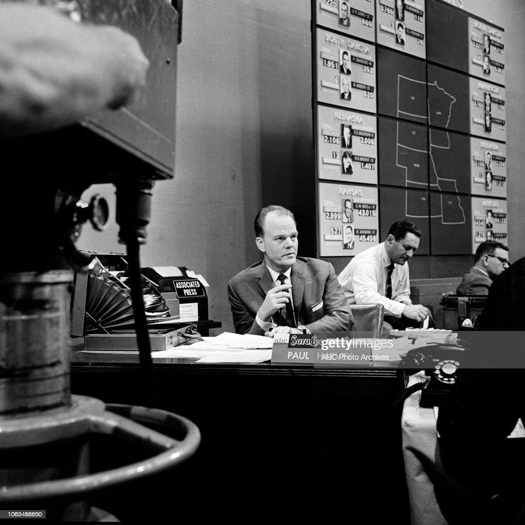 Paul Harvey, 1958 Election Night Coverage : News Photo