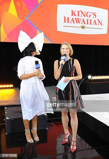 Walt Disney Television via Getty Images NEWS Sia performs live from Central Park as part of the Summer Concert Series on Good Morning America 7/22/16...