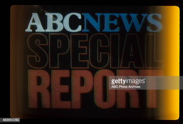 FLIGHTS Space Shuttle 'Columbia' Broadcast Coverage from Kennedy Space Center on TV Screen Airdate April 10 1981 'ABC NEWS SPECIAL REPORT'