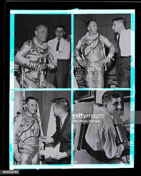 Walt Disney Television via Getty Images NEWS SPACE FLIGHTS Special Profile of an Astronaut Composite Airdate January 3 1962 JOHN GLENNJULES BERGMAN...
