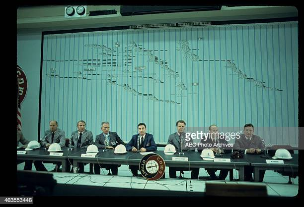 FLIGHTS ApolloSoyuz Test Project Press Conference with US Astronauts and Soviet Cosmonauts at Launch Control Center Shoot Date February 19 1975...