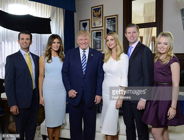 Walt Disney Television via Getty Images NEWS - The Trump family gathers for a photo at the opening of the Trump International Hotel in Washington DC,...