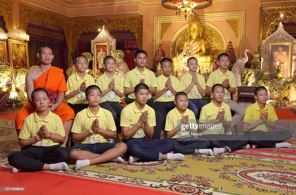 ABC News Speaks With Thai Soccer Team And Their Assistant Coach After Miraculous Cave Rescue : News Photo