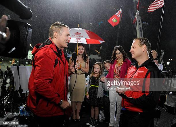 Walt Disney Television via Getty Images SPECIAL NIAGARA FALLS CANADA 6/15/12 Daredevil Nik Wallenda walks across Niagara Falls from the US to the...