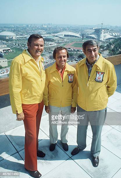 Summer Olympics 7/178/1/76 ABC Sports commentators Keith Jackson Jim McKay and Howard Cosell at the Games of the XXI Olympiad from Montreal Quebec...