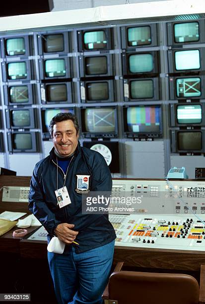 SPORTS Julius Barnathan '1980 Winter Olympics' 2/1980 Julius Barnathan in a production control room for the 1980 Lake Placid Winter Olympics