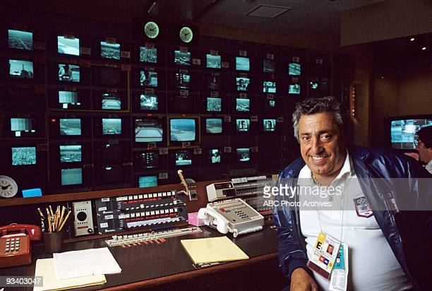 SPORTS Julius Barnathan 1984 Summer Olympics 6/ 1984 Julius Barnathan in an ABC Los Angeles production control room during the 1984 Summer Olympics
