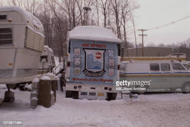 ABC Sports truck covering the 1980 Winter Olympics / XIII Olympic Winter Games Olympic Fieldhouse