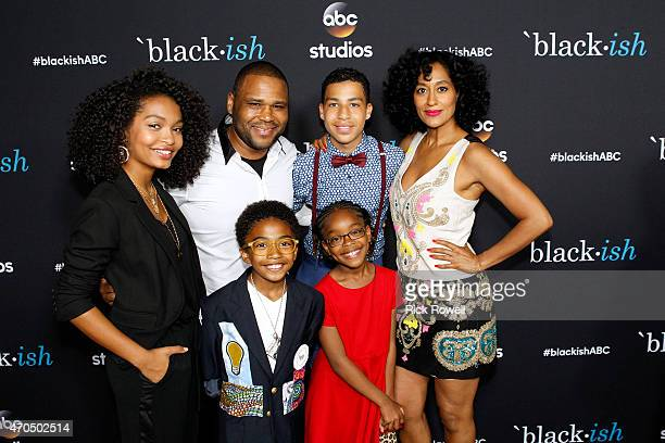 """Walt Disney Television via Getty Images talent and executives attend the """"black-ish"""" ATAS event at the Silver Screen Theater at Pacific Design Center..."""