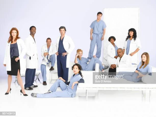 "Walt Disney Television via Getty Images Television Network's ""Grey's Anatomy"" stars Kate Walsh as Addison Shepherd, Isaiah Washington as Preston..."