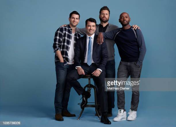 THINGS Walt Disney Television via Getty Images's A Million Little Things stars David Giuntoli as Eddie Ron Livingston as Jon James Roday as Gary and...