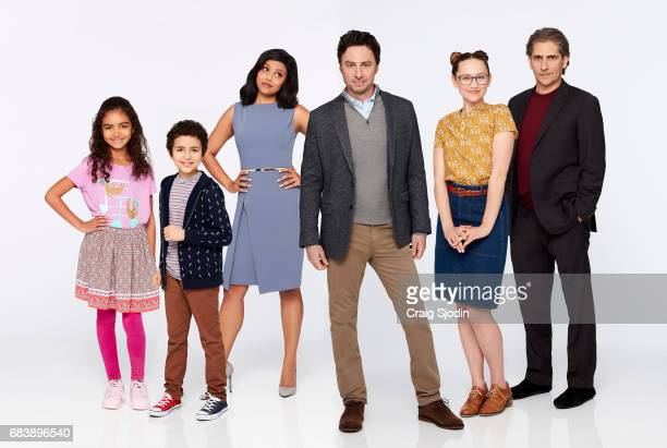 ALEX INC Walt Disney Television via Getty Images's Alex Inc stars Audyssie James as Soraya Elisha Henig as Ben Tiya Sircar as Rooni Zach Braff as...