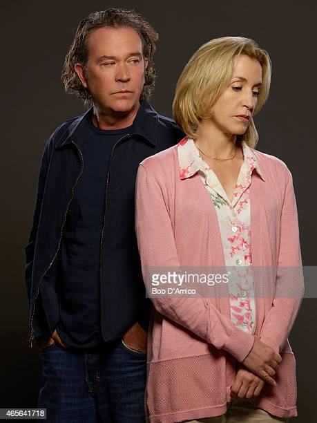 """Walt Disney Television via Getty Images's """"American Crime"""" stars Timothy Hutton as Russ Skokie and Felicity Huffman as Barb Hanlon."""