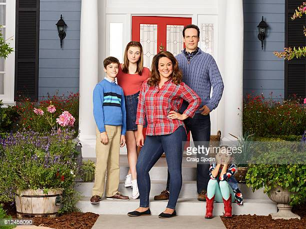 HOUSEWIFE Walt Disney Television via Getty Images's American Housewife stars Daniel DiMaggio as Oliver Meg Donnelly as Taylor Katy Mixon as Meg...