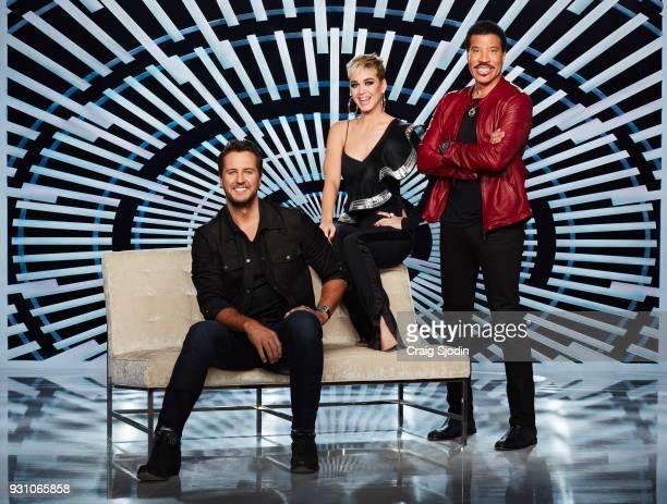 IDOL Walt Disney Television via Getty Images's American Idol judges Luke Bryan Katy Perry and Lionel Richie