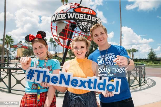 IDOL Walt Disney Television via Getty Imagess American Idol Season 1 winner Maddie Poppe runnerup Caleb Lee Hutchinson and finalist Catie Turner make...