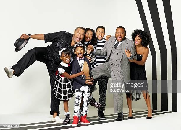 ISH Walt Disney Television via Getty Images's blackish stars Marsai Martin as Diane Johnson Miles Brown as Jack Johnson Yara Shahidi as Zoey Johnson...