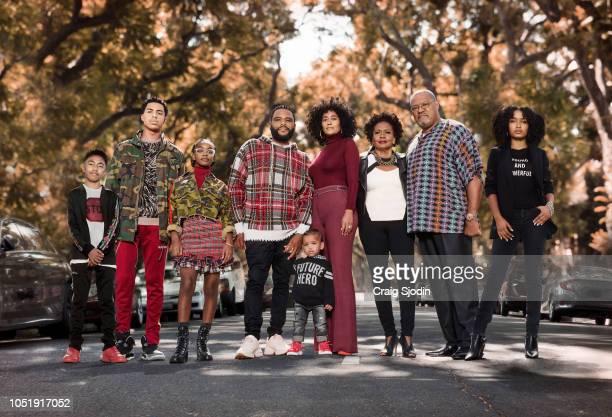 ISH Walt Disney Television via Getty Images's blackish stars Miles Brown as Jack Johnson Marcus Scribner as Andre Johnson Jr Marsai Martin as Diane...