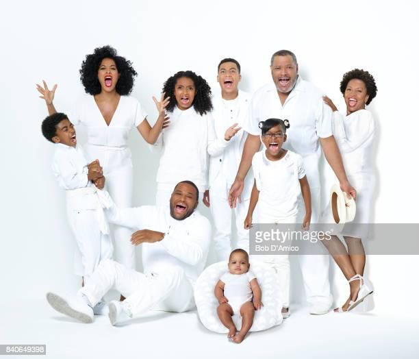 ISH Walt Disney Television via Getty Images's blackish stars Miles Brown as Jack Johnson Tracee Ellis Ross as Rainbow Johnson Yara Shahidi as Zoey...