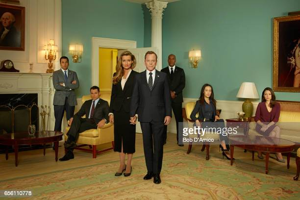 SURVIVOR Walt Disney Television via Getty Images's Designated Survivor stars Kal Penn as Seth Wright Adan Canto as Aaron Shore Natascha McElhone as...