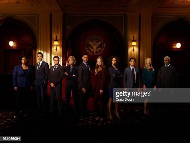 "Walt Disney Television via Getty Images's ""For The People"" stars Anna Deavere Smith as Tina Krissman, Ben Shenkman as Roger Gunn, Ben Rappaport as..."