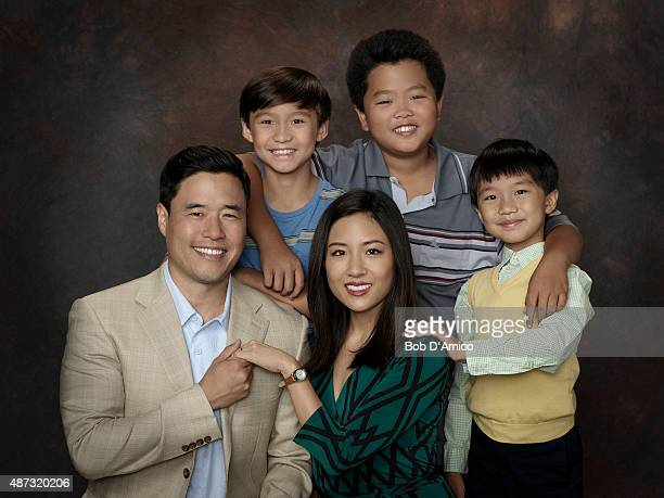 BOAT Walt Disney Television via Getty Images's Fresh Off the Boat stars Randall Park as Louis Huang Forrest Wheeler as Emery Huang Constance Wu as...