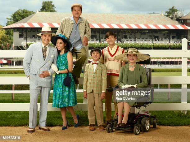 BOAT Walt Disney Television via Getty Images's Fresh Off the Boat stars Randall Park as Louis Huang Constance Wu as Jessica Huang Hudson Yang as...