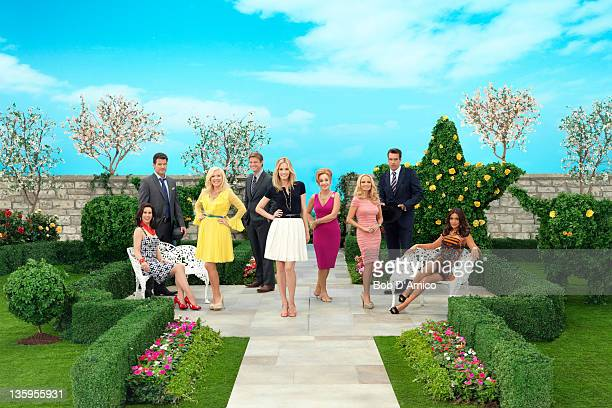 GCB ABC's 'GCB' stars Miriam Shor as Cricket CaruthReilly Mark Deklin as Blake Reilly Jennifer Aspen as Sharon Peacham Brad Beyer as Zack Peacham...