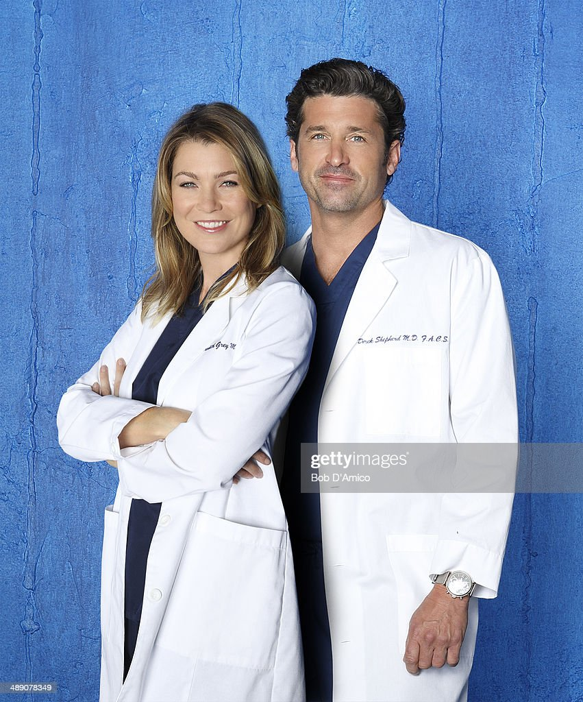 S ANATOMY - ABC's 'Grey's Anatomy' stars Ellen Pompeo as Dr. Meredith Grey and Patrick Dempsey as Dr. Derek Shepherd.