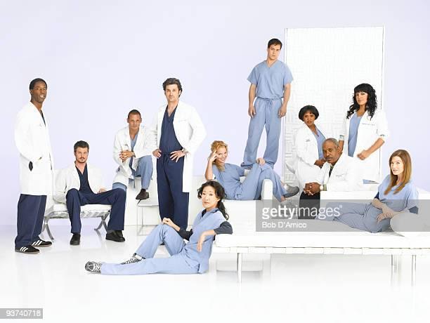 S ANATOMY Walt Disney Television via Getty Images's Grey's Anatomy stars Isaiah Washington as Preston Burke Eric Dane as Mark Sloan Justin Chambers...